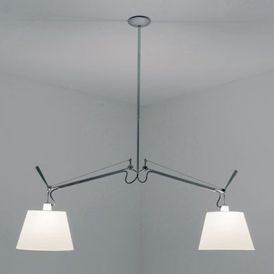 Tolomeo 10 Inch Double Shade Suspension By Artemide Tol1000 Tolomeo Lamp Suspension Light Pendant Light
