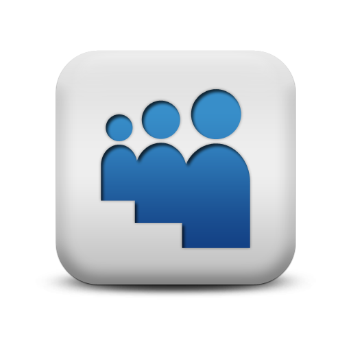 Myspace Icon From The Matte Blue And White Square Icons Collection Logo Icons Free Clip Art Icon