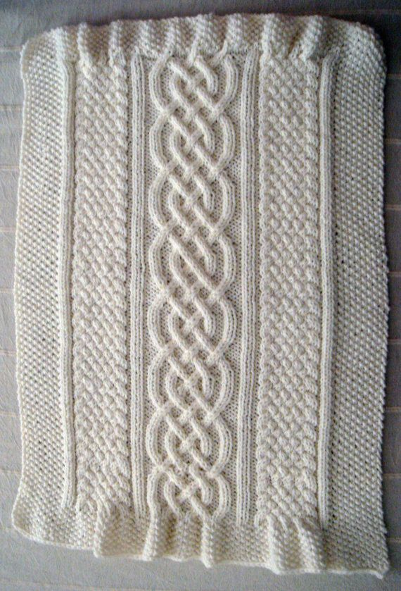 Celtic blanket knitting pattern celtic cable design Celtic Aran Afghan irish ...