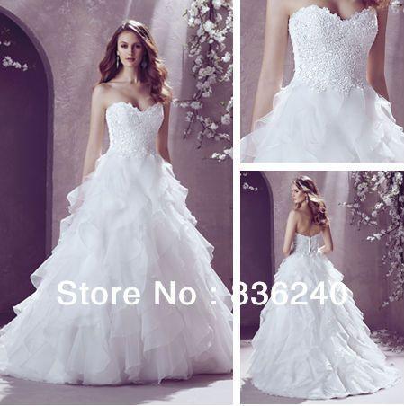 2014 New Arrival Happy New Year Organza Bride Dress Weeding Ball Vestido De Noiva $229.00