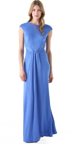Click Image Above To Purchase: Issa Cap Sleeve Gown With Open Back