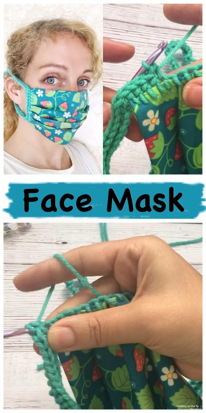 Face Mask DIY No Sew Fabric Crochet Pattern - Crafting on the Fly