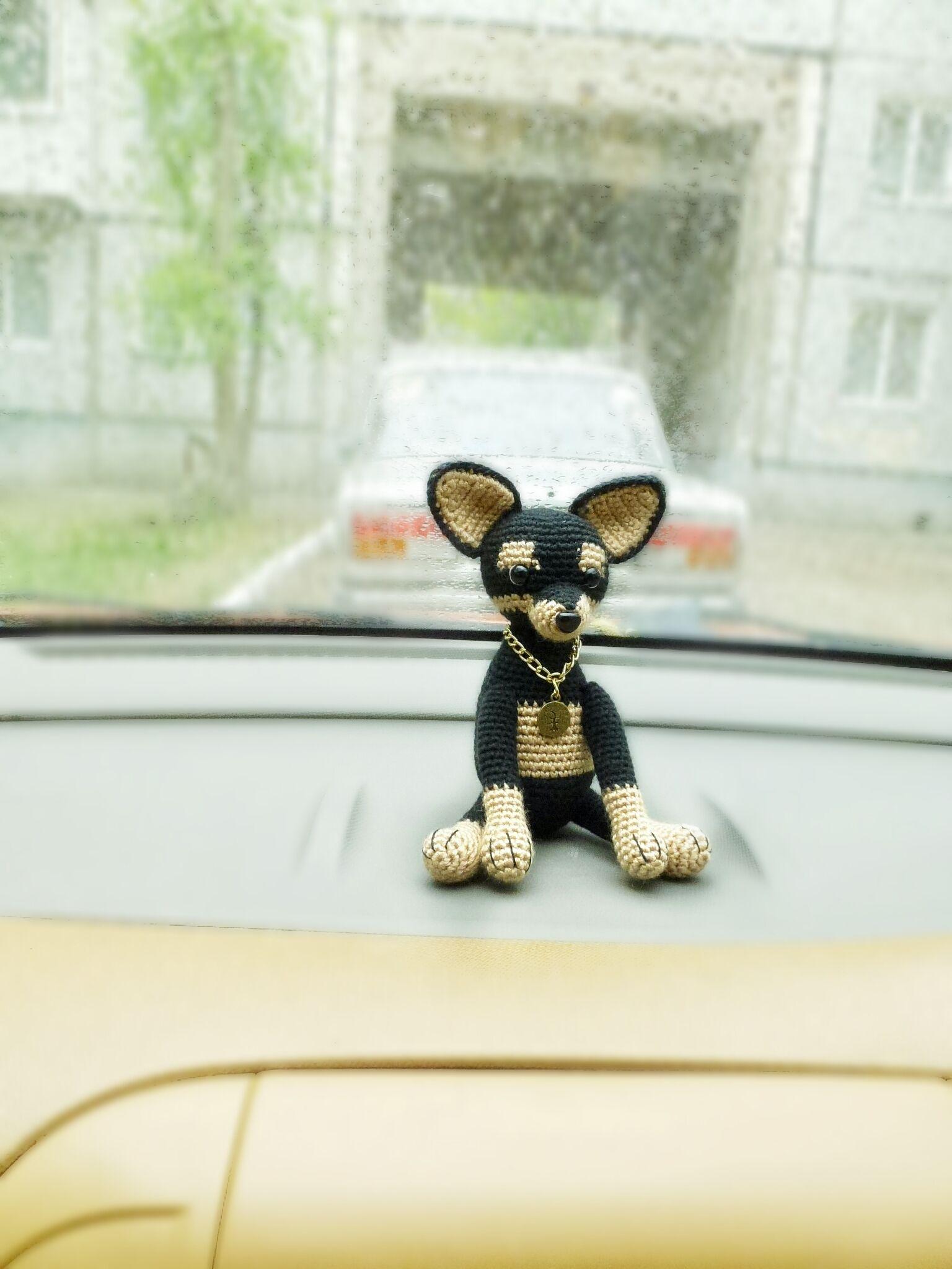 Mini Dogs Toy In The Car Cute Car Accessories Car Crochet Dogs