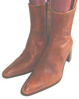 2bba0836b4eda7 Gortz 17 Brown Leather Ankle Boots
