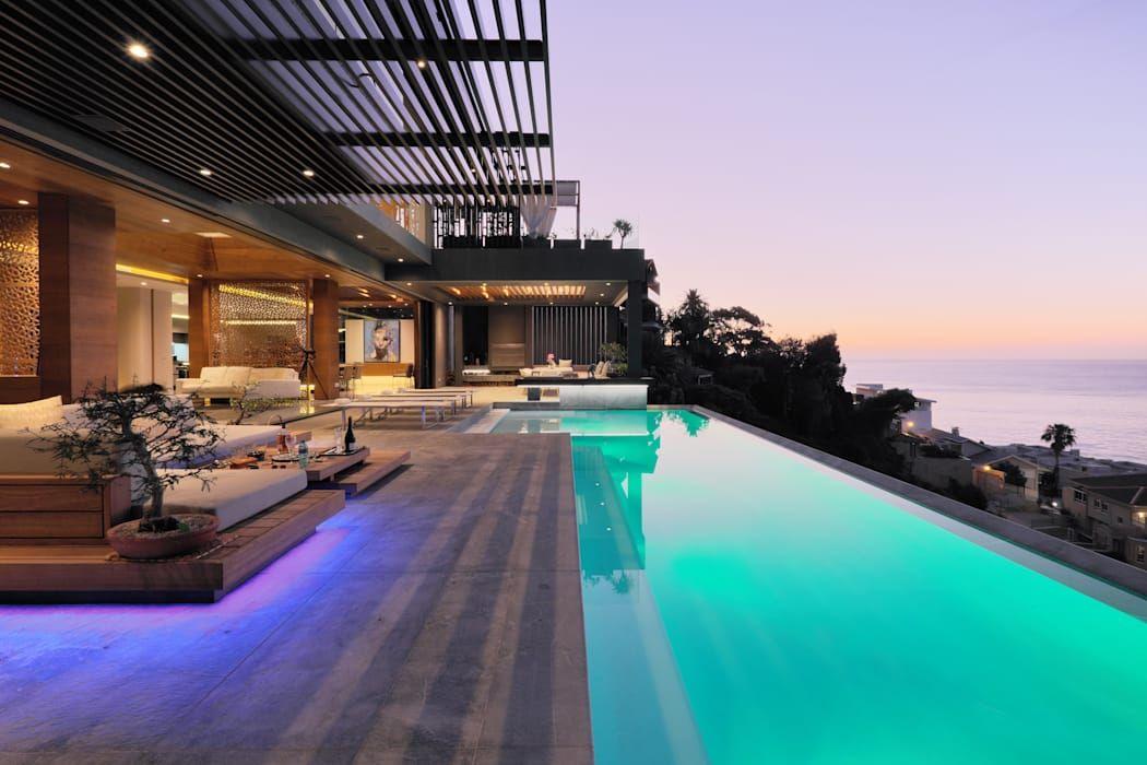 House Kloof Bantry Bay Cape Town Infinity Pool By Kmma Estilo