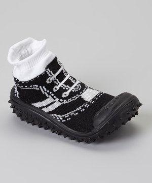 Another great find on #zulily! Black Sport Sneaker Gripper Shoe by Skidders #zulilyfinds