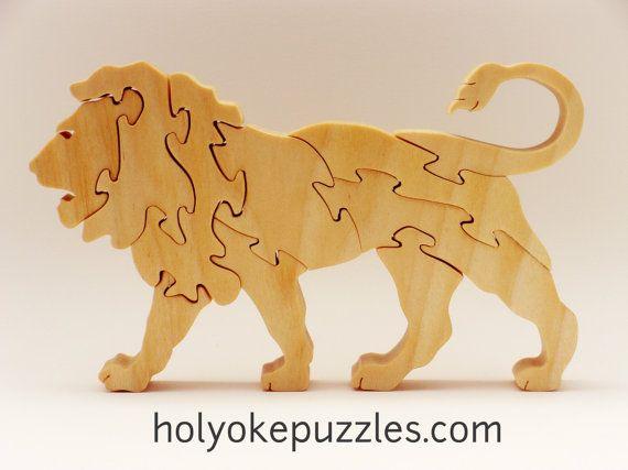 Enigmistica bambini ~ Lion jigsaw puzzle in poplar legno disegni e idee