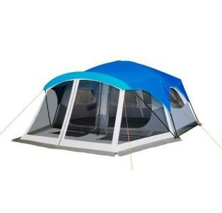 Embark Sleeps 9 Person Cabin Tent Screen Porch 14x15 Dome Blue
