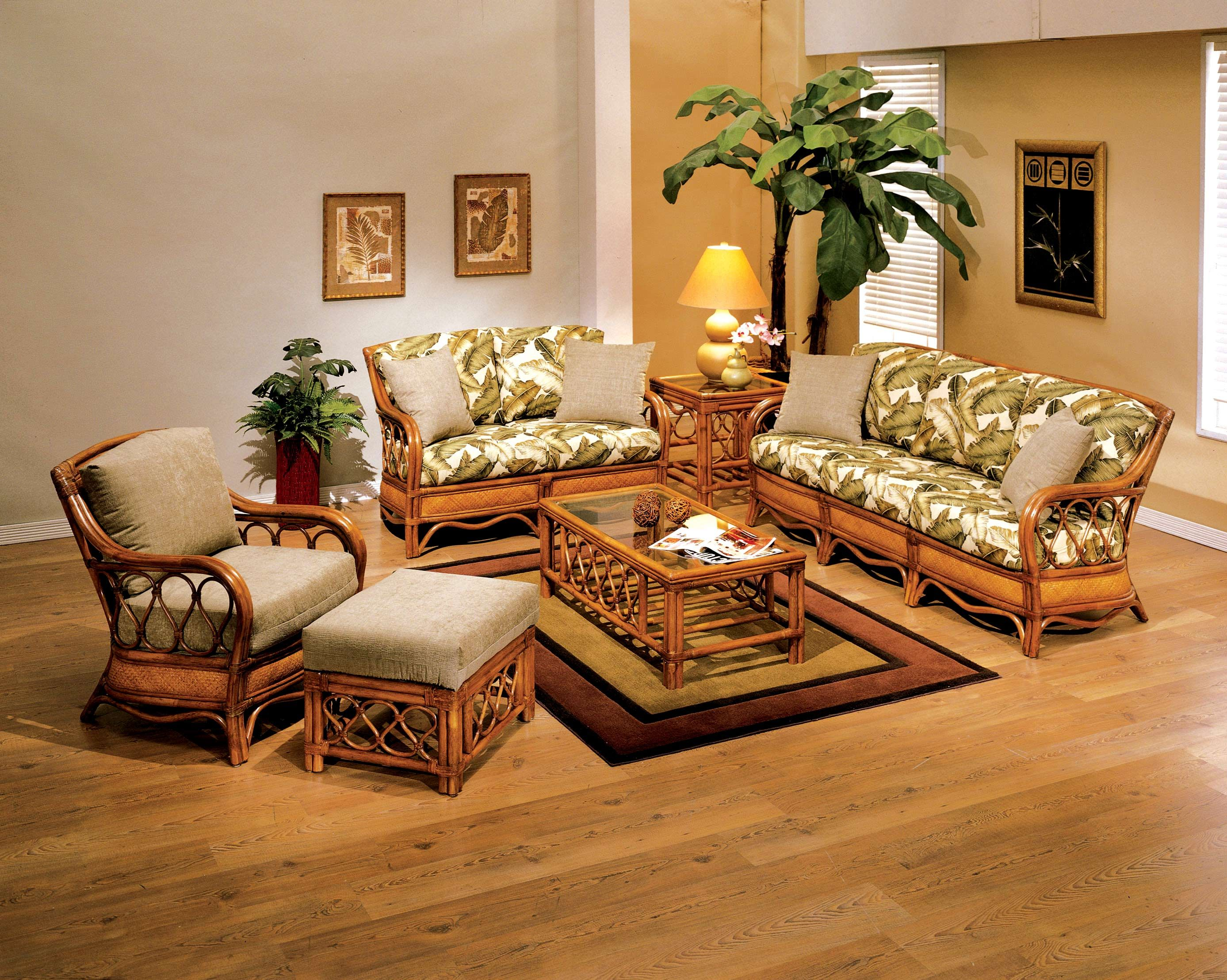 rattan  wicker bamboo chairs Rattan Living Room Furniture Gallery 1