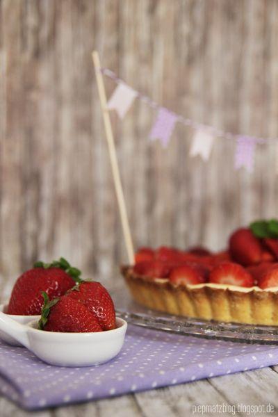 piepmatz: Rezept: Erdbeertarte.
