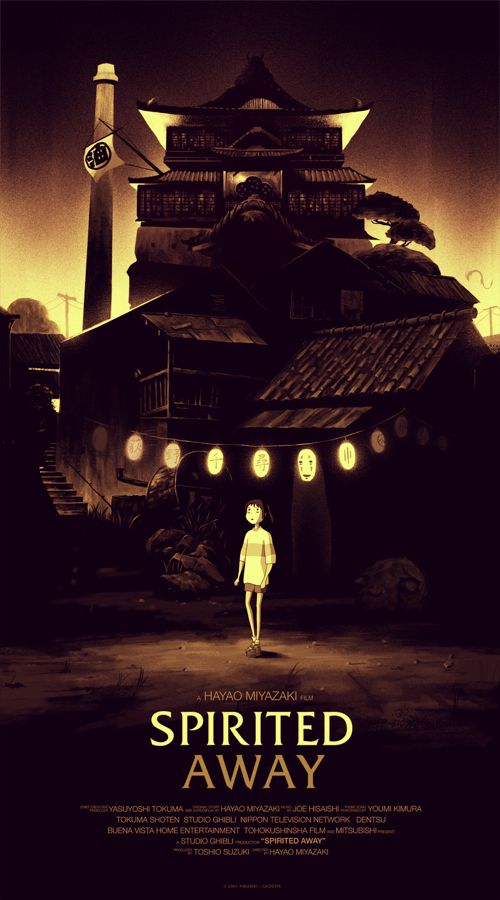 Olly Moss Spirited Away Regular Mondo Poster print art studio ...