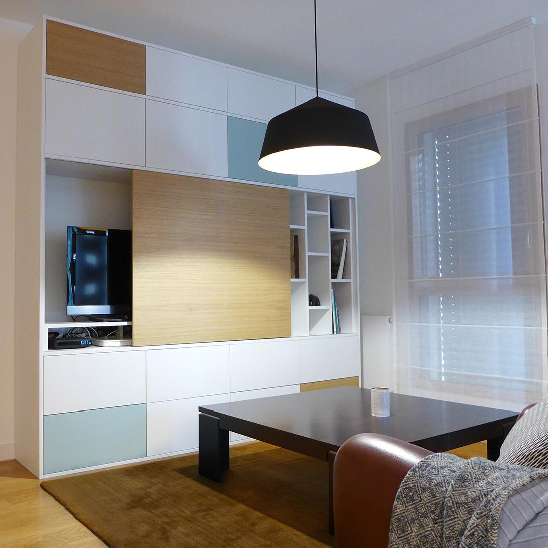 agence sk a tiphaine thomas meuble de salon sur mesure en stratifi. Black Bedroom Furniture Sets. Home Design Ideas