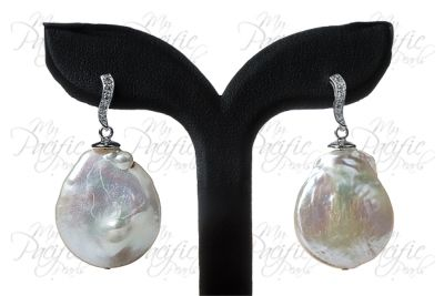 My Pacific Pearls | FATU HIVA BAY COLLECTION - White Penny Pearl Earrings $170   www.mypacificpearls.com