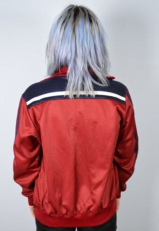 ADIDAS WOMENS VINTAGE TRACKSUIT TOP JACKET LARGE 90'S