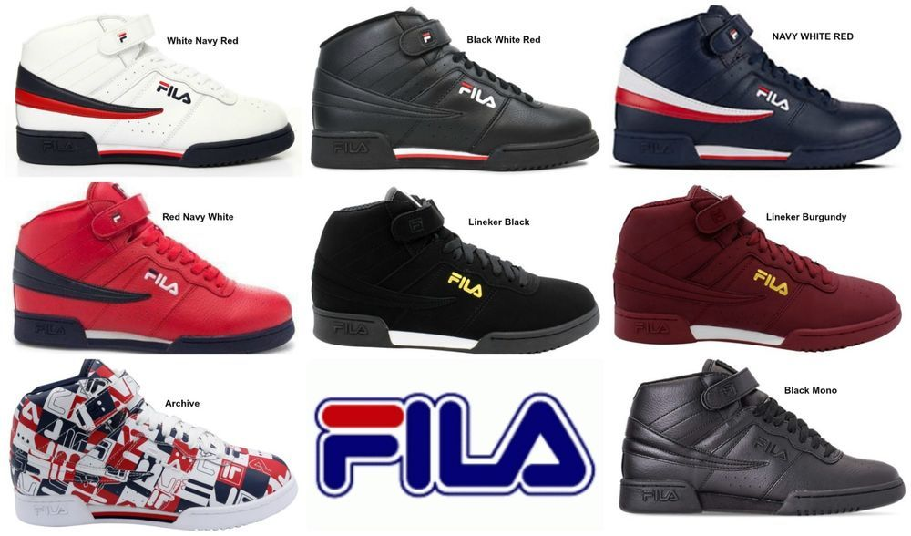 995b3dc1a1a9 New Men s FILA F13 F-13 Mid Classic Strap HI-Top Basketball Shoes Sneakers  Comfo