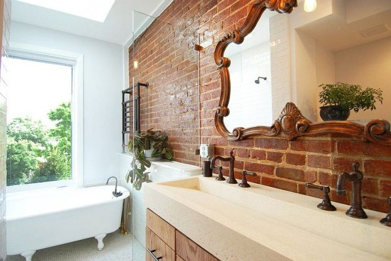 brick walls for modern bathrooms: the perfect experiment | ziegel, Hause ideen
