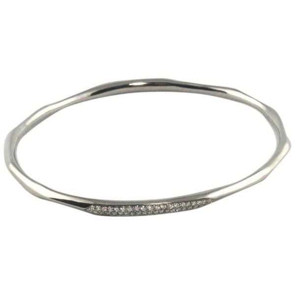 Pre-owned Ippolita Wicked Silver Diamond Bangle Bracelet .925 Black... (107.655 RUB) ❤ liked on Polyvore featuring jewelry, bracelets, accessories, black, silver bangle bracelet, bracelets & bangles, bangle bracelet, silver bracelet bangle and hinged bangle