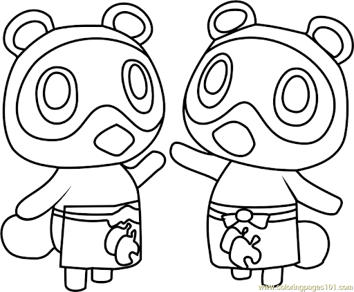 Animal Crossing Timmy And Tommy Cloring Pages Google Search Animal Crossing Coloring Pages Coloring Pages For Kids