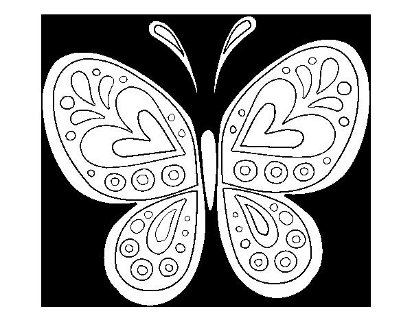 149 Dibujos Para Imprimir Colorear O Pintar Para Niños: Dibujo De Mandala Mariposa Para Colorear