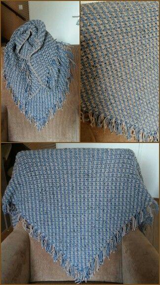 Omslagdoek Sjaal In De Granietsteekweefsteek Haken Pinterest