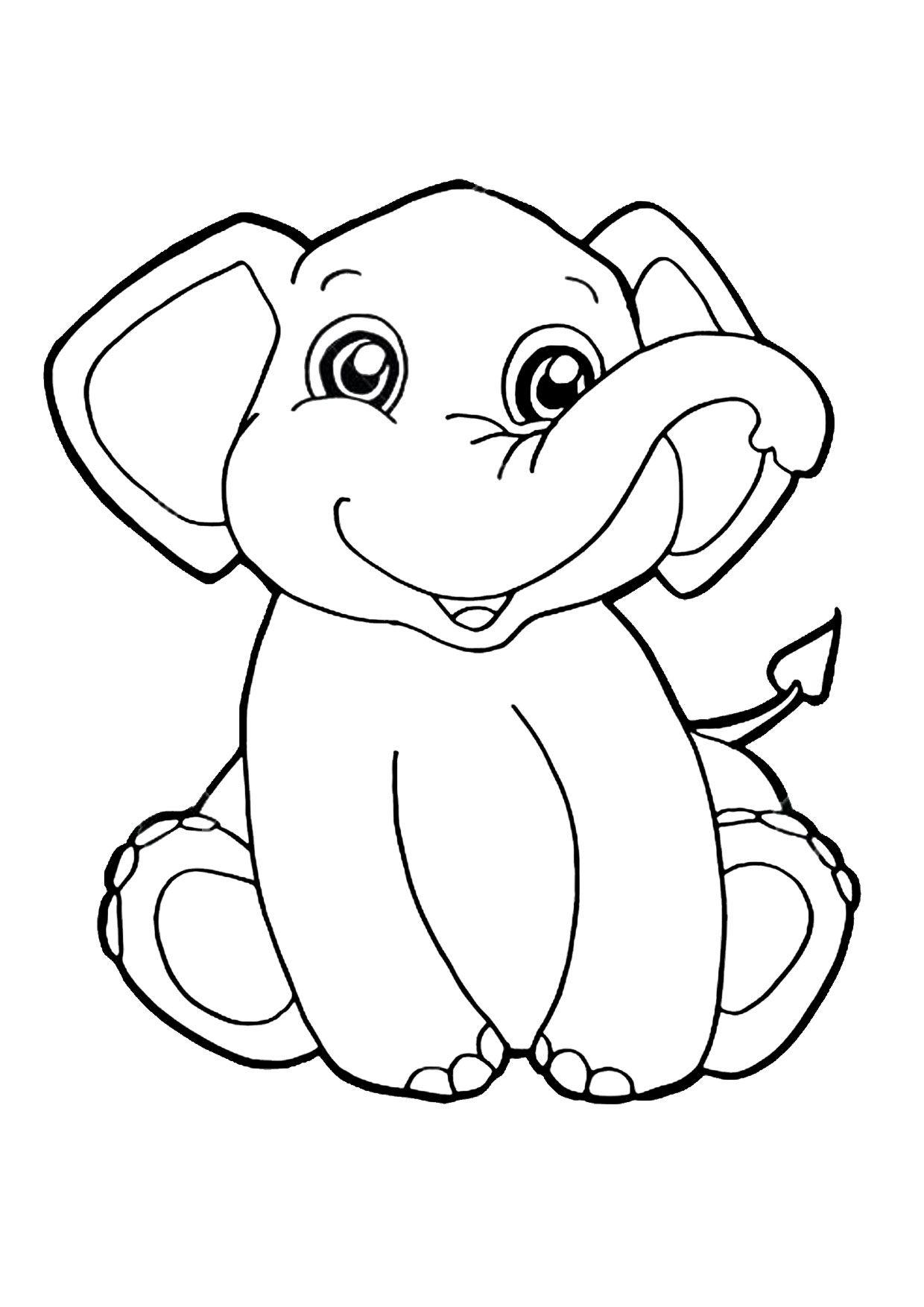 45 Disegni Di Elefanti Da Colorare Bambini Da Colorare Immagini