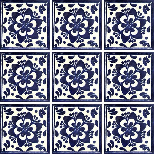 Mexican talavera tiles simple designs for Azulejo de talavera mexico