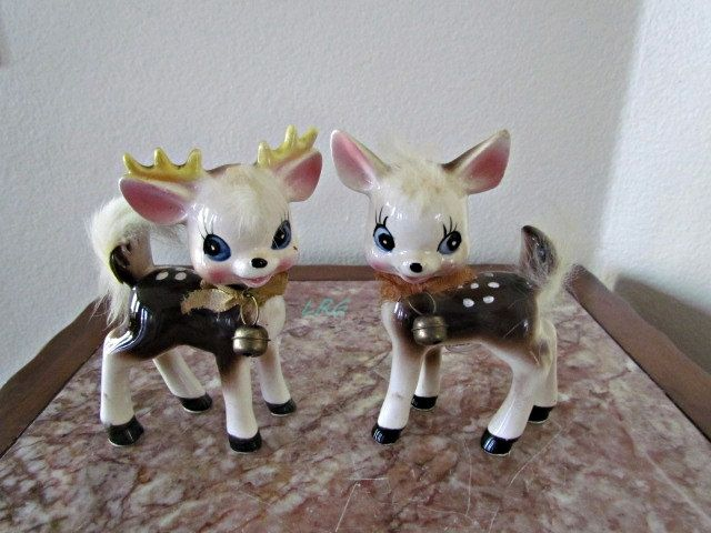 Vintage salt and pepper shakers for cake toppers