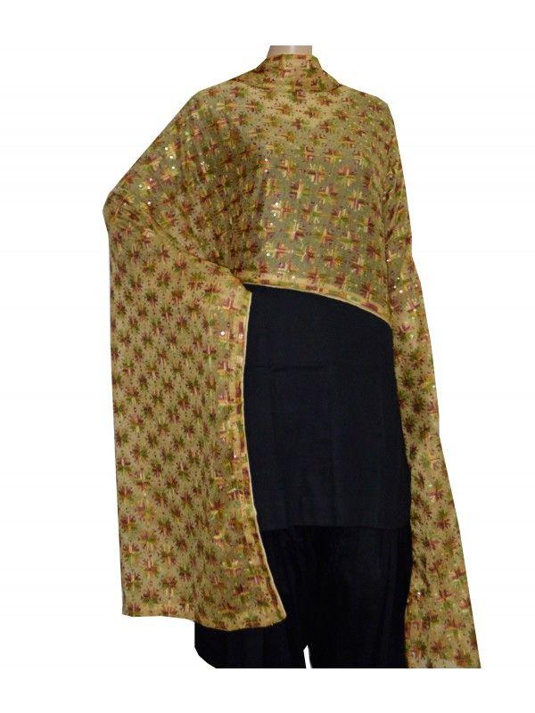 Kanchan Phulkari Dupatta Kanchan Phulkari Dupatta  -Computerized Phulkari Full Jaal Dupatta  -Faux Chiffon Length – 2.3 Meter  -Wash Care – Regular Soft Wash Shop Now : https://www.punnjab.com/beige-kanchan-phulkari-dupatta-jdkn1165