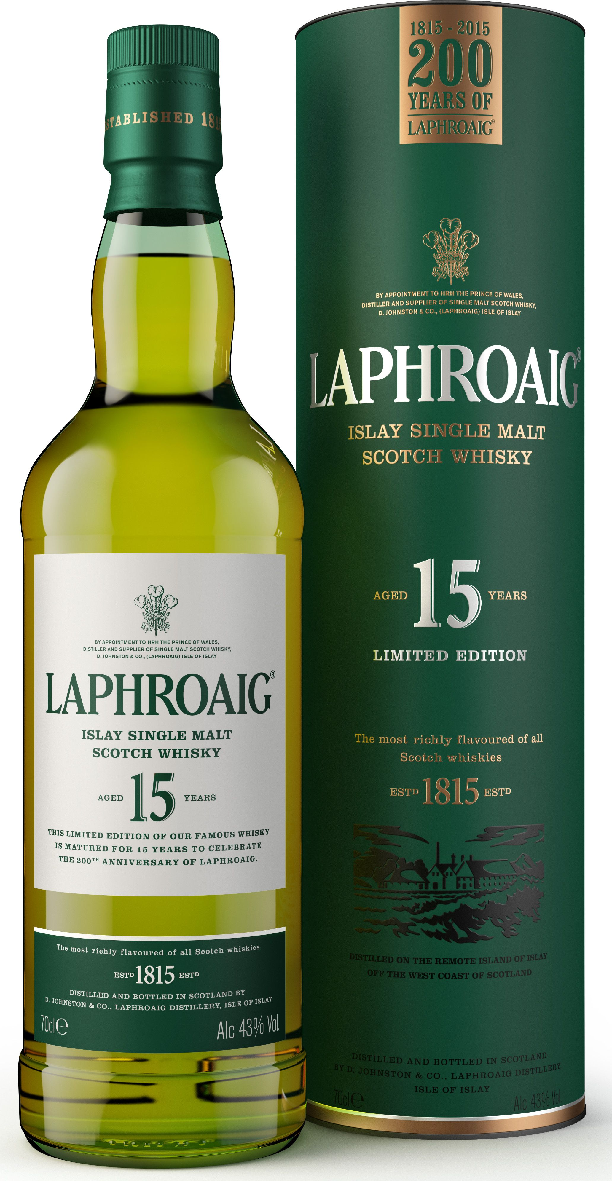 Laphroaig 200 Years Of Laphroaig 15 Jahre Whisky Online Kaufen Im Whisky Shop Bei Whiskyzone Alkohol Spirituosen Schnaps