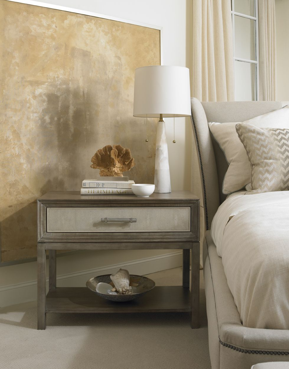 Hickory White Hickory white, Wingback bed, King beds