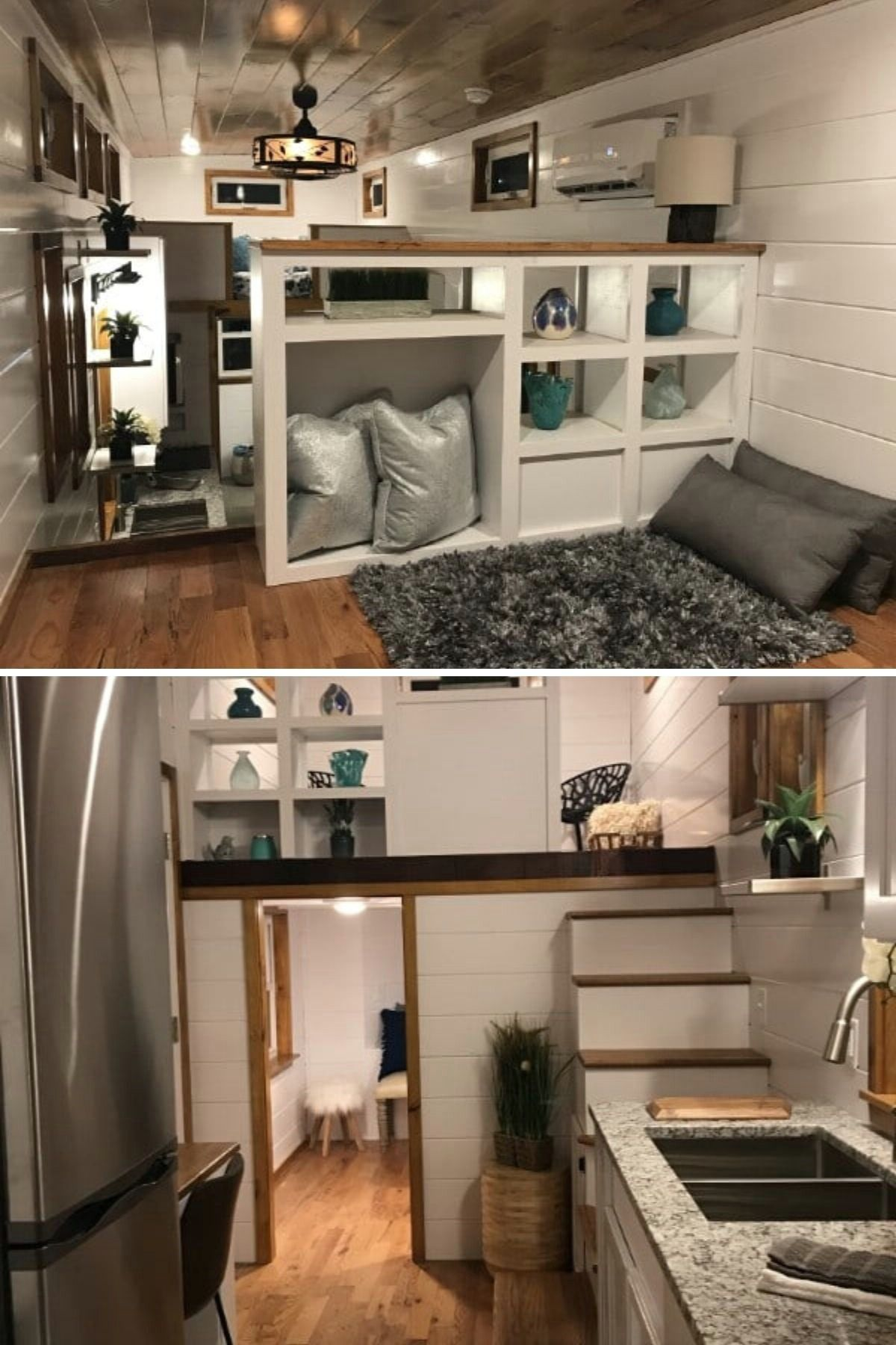 The best tiny house lofts with links to full house tours and builder or availability info! Check out the nicest lofts and find your dream tiny house today! #tinyhouse #tinyhouses #lofts #smallspaceliving