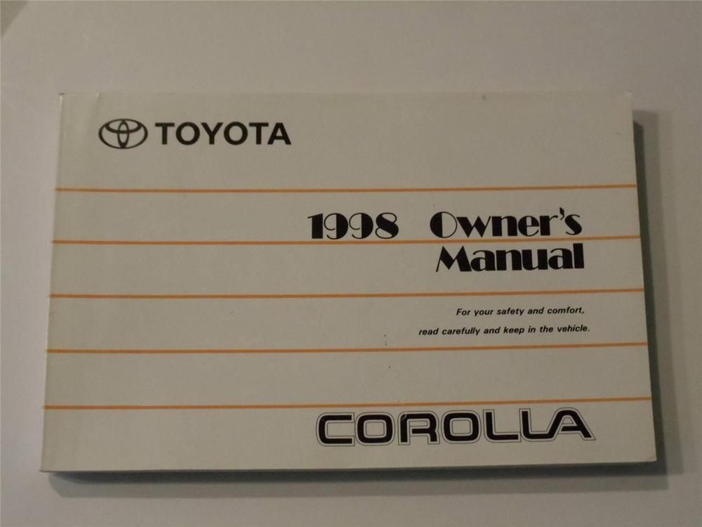 1998 toyota corolla owners manual book owners manuals pinterest 1998 toyota corolla owners manual book fandeluxe Gallery