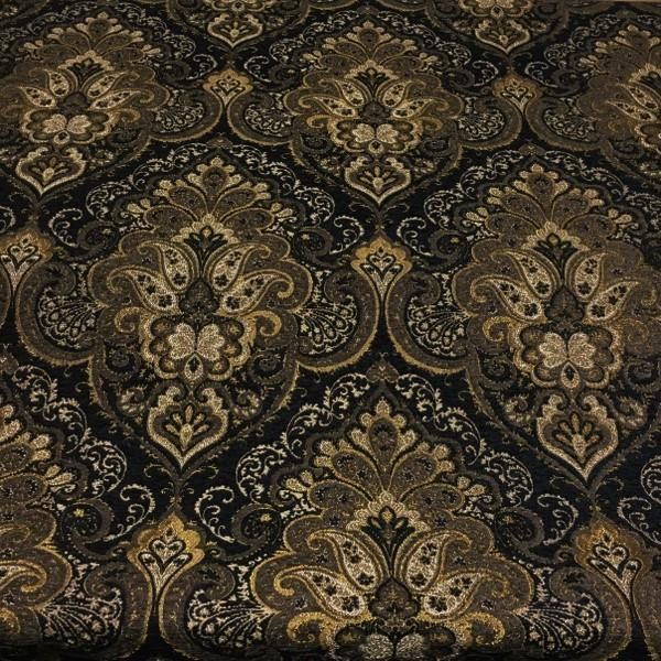 Norden Night Victorian Tapestry Black Upholstery Fabric Swavelle