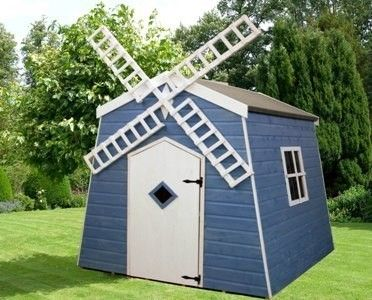 Windmill Playhousewooden Wendy House Outdoor Childrens Toy Jelly