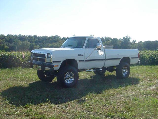 White 1st Gen Cummins Old Dodge Trucks Cummins Trucks Dodge Trucks