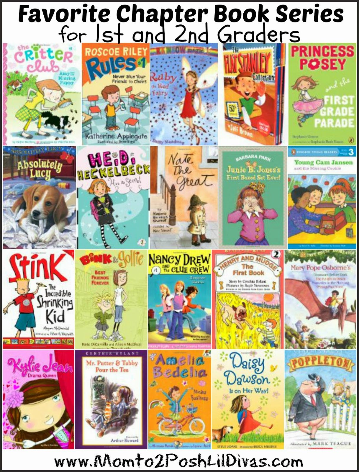 20 chapter books perfect for first and second grade - encourage 1st ...