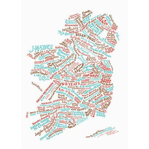Map Of Ireland Book.Literary Map Of Ireland In 2019 Home Office Storage Etc