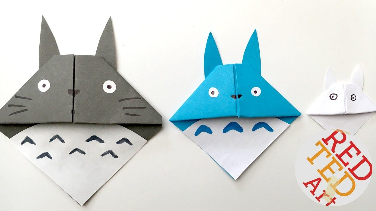 easy totoro bookmark origami paper crafts � pinteres�