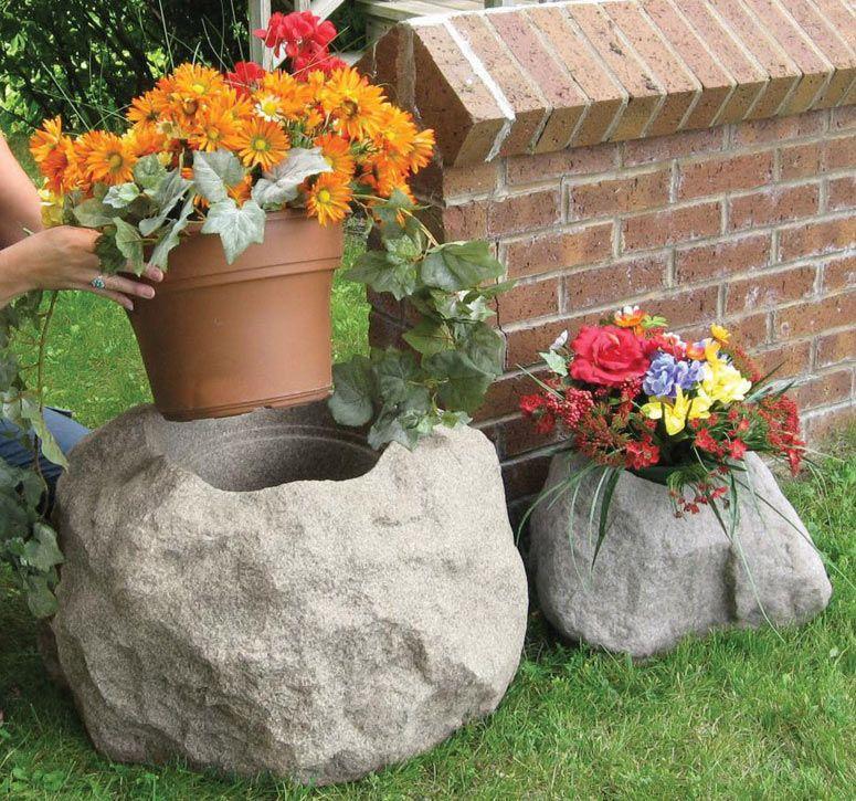Blossom Boulders Faux Rock Planters Rock planters