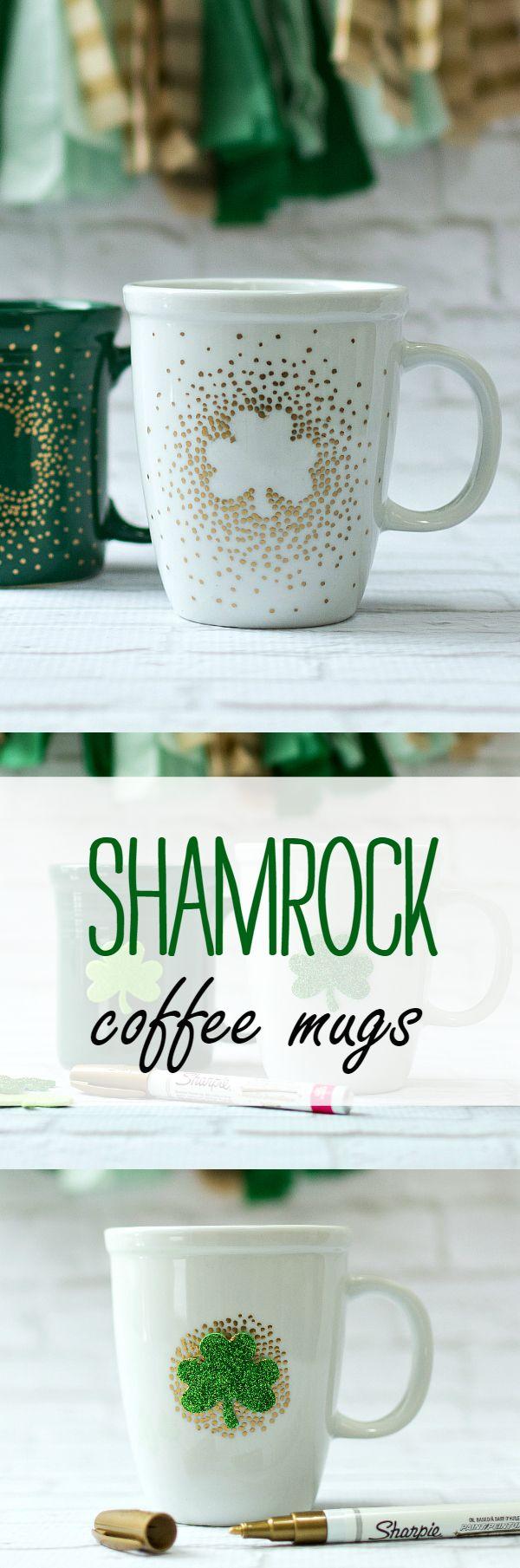 Irish coffee mugs pinterest paint pens saints and coffee for Craft smart paint pen on mugs