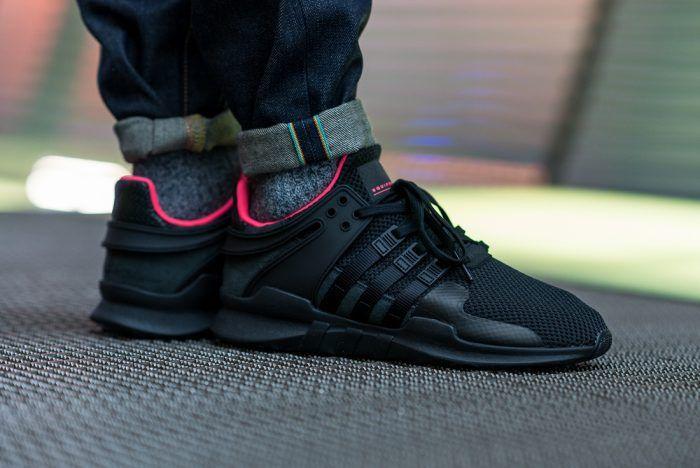 86c5c8110bc adidas EQT Support ADV (Core Black Turbo Red) – Sneaker Freaker ...