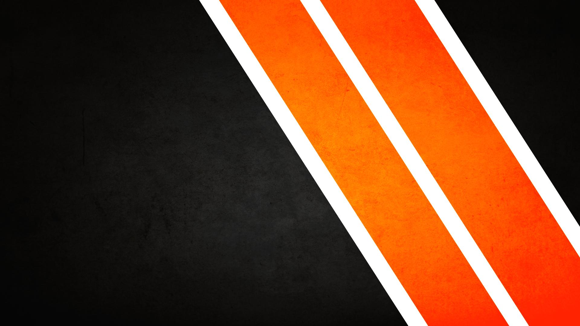 minimalistic orange stripes / 1920x1080 Wallpaper Orange