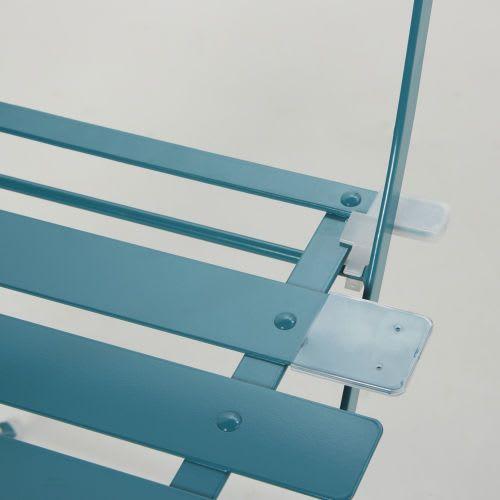 Sedie Da Giardino Maison Du Monde.2 Sedie Da Giardino Pieghevoli In Metallo Epossidico Blu