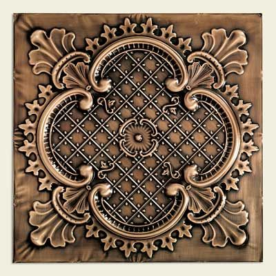tin ceiling panels in the tudor style
