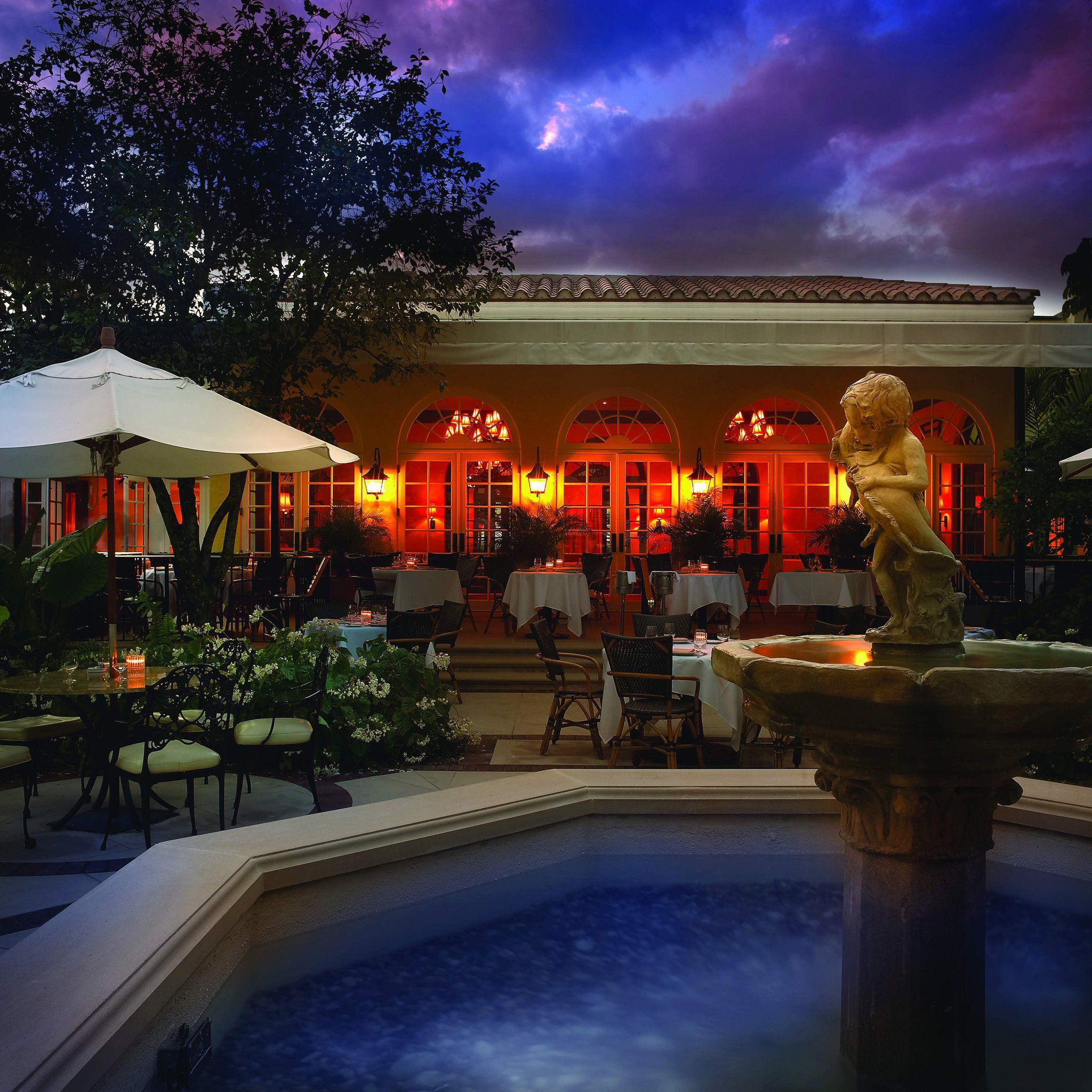 On Friday evening the festive tone is set by Daniel and Friends, hosted by acclaimed chef Daniel Boulud in the glittering Fountain Courtyard and Terrace of Café Boulud Palm Beach. #pbfwf2012