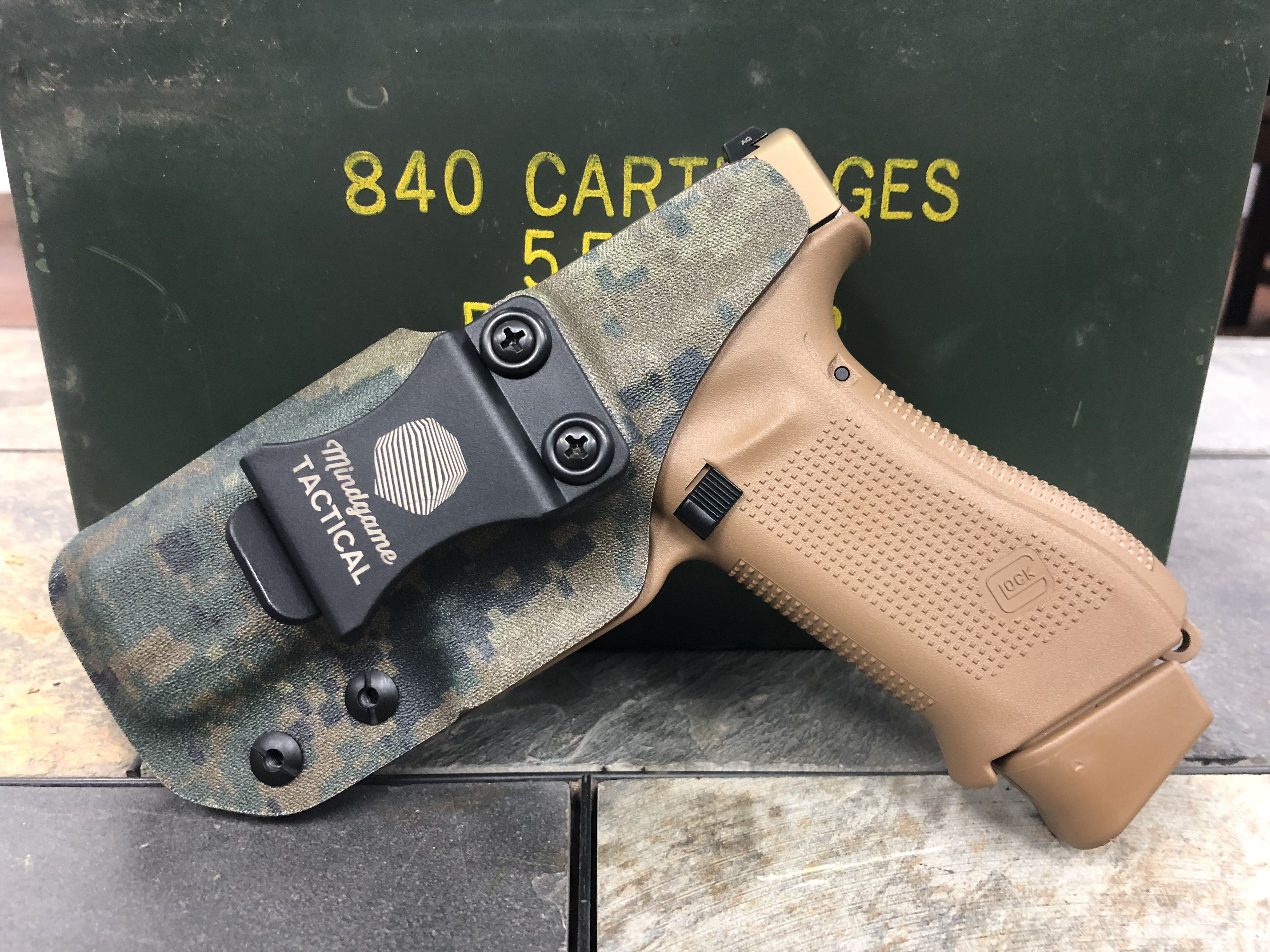 This is a custom tailored holster for a client and his Glock 19x