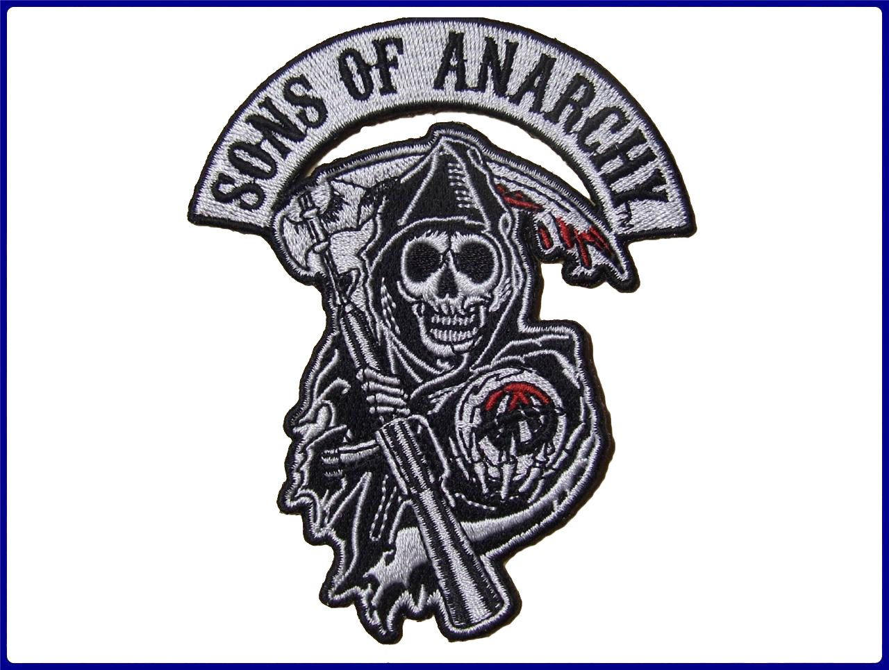 Sons Of Anarchy Soa Reaper Logo Embroidered Patch By Diablopatch 3 99 Sons Of Anarchy Iron On Applique Anarchy