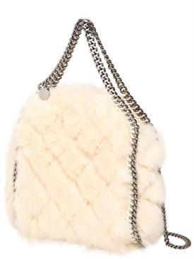 05dee1d4c9e2 stella mccartney - women - shoulder bags - faux fur mini 3chain falabella  bag