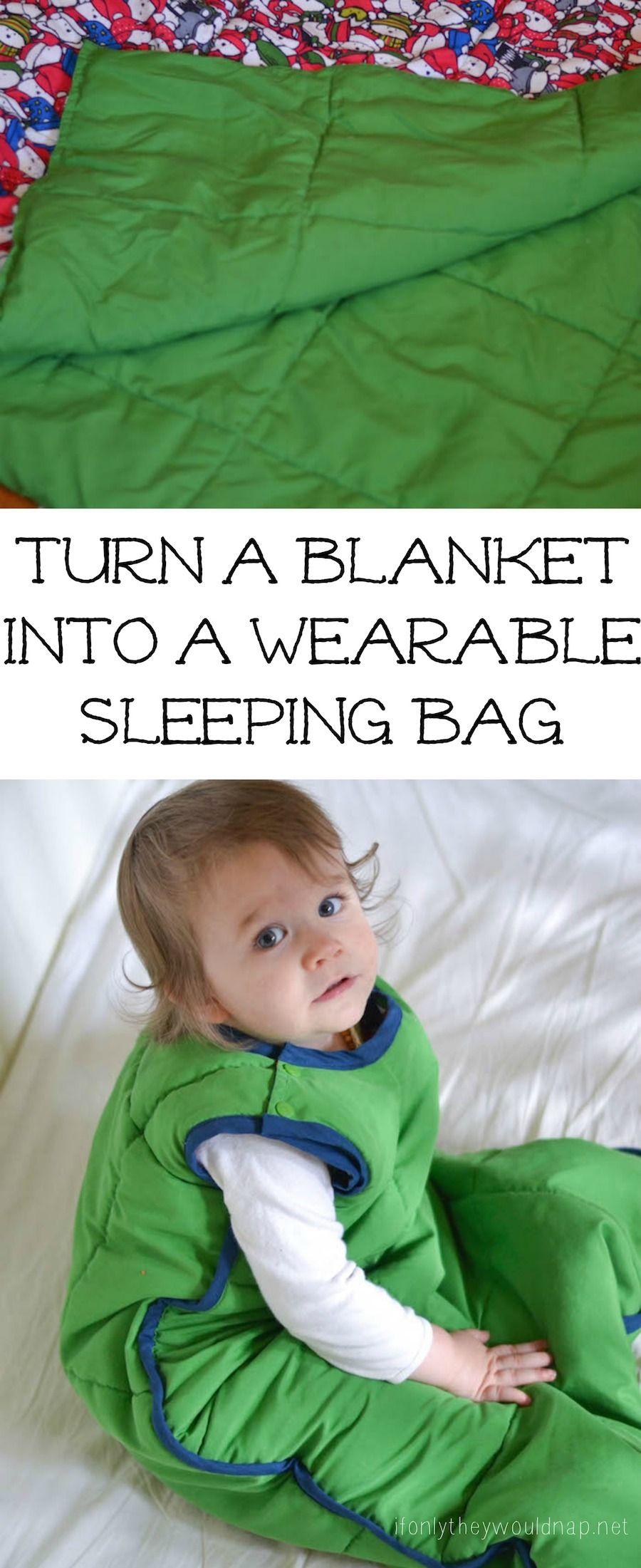 tutorial ohne sm schlafsack aus decke n hen diy turn a blanket into a wearable sleeping bag. Black Bedroom Furniture Sets. Home Design Ideas