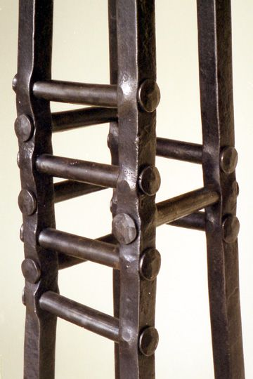 Mortise And Tenon Joinery Steel Art Forged Steel Wood